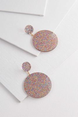 rainbow glitter resin earrings