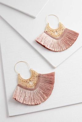dangling filigree fringe earrings