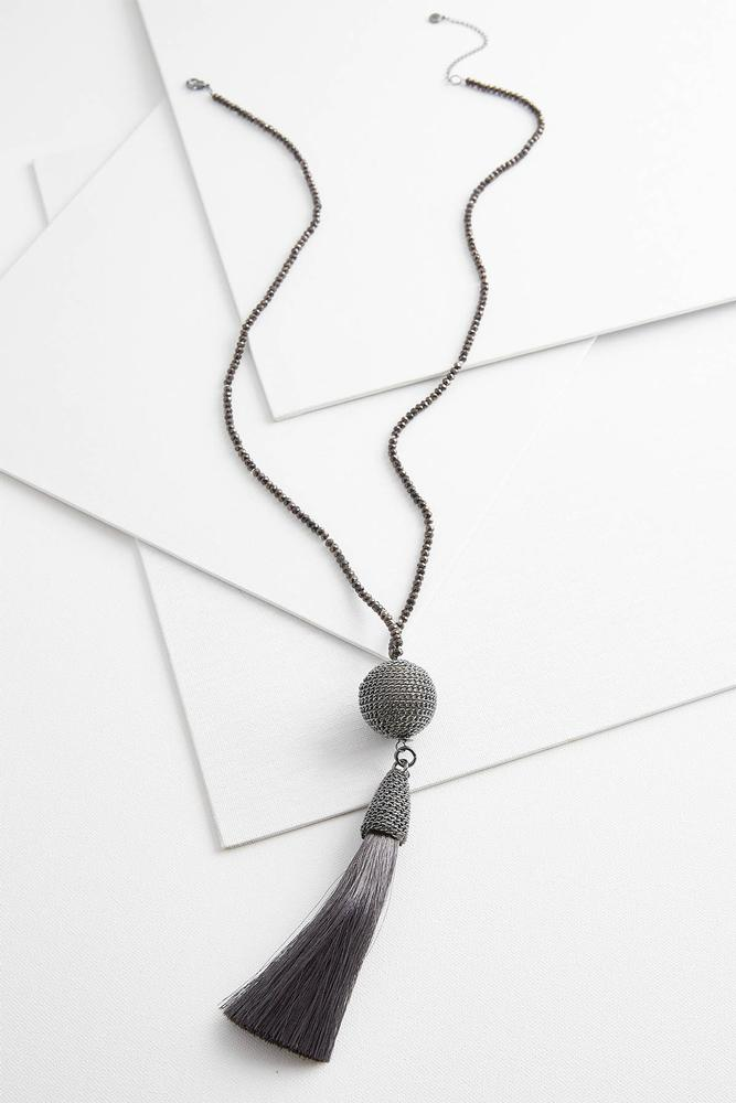 Chain Ball Tassel Necklace