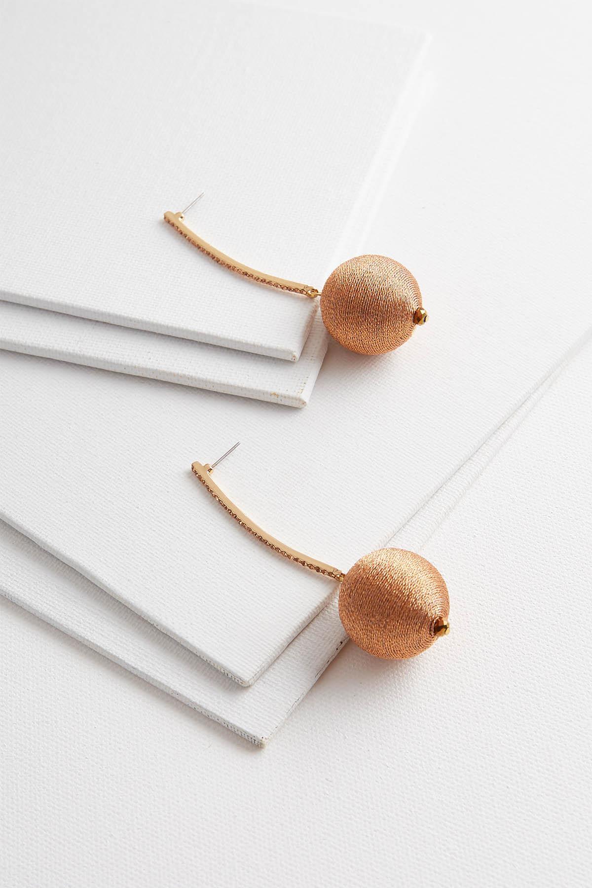 Metallic Sphere Earrings