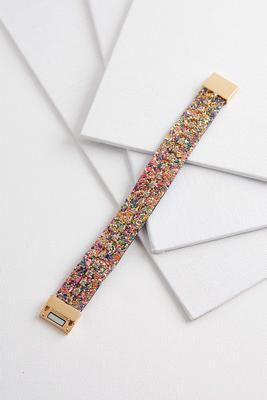 glitter and rhinestone bracelet