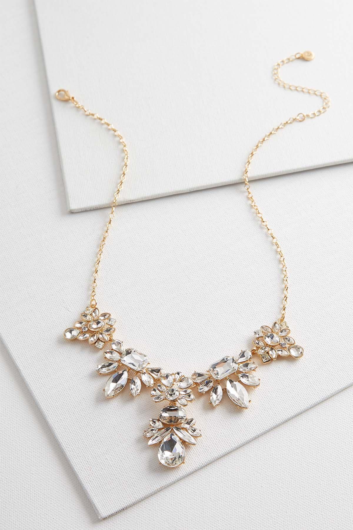 Rhinestone Cluster Y- Necklace