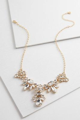 rhinestone cluster y-necklace