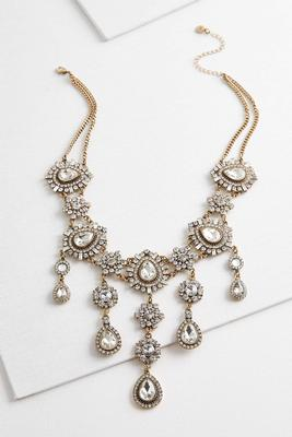 antique waterfall statement necklace