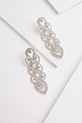 linear chandelier earrings