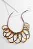 Tortoise Oval Ring Statement Necklace