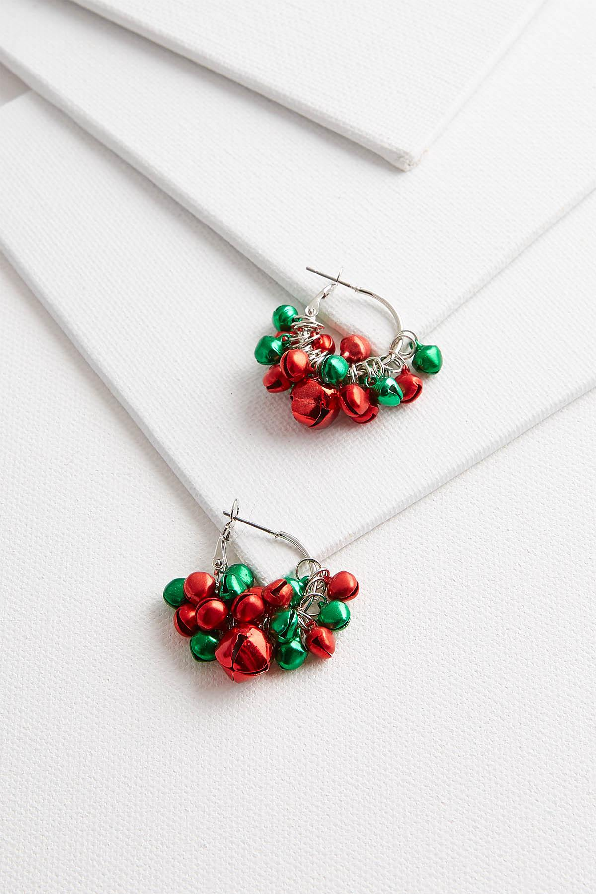 Dainty Jingle Bell Hoops