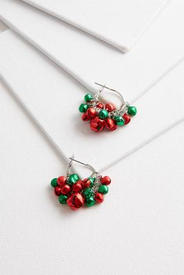 dainty jingle bell hoops