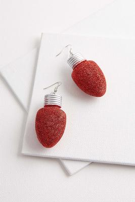 glitter holiday bulb earrings