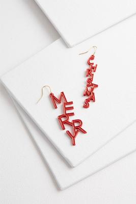 merry christmas earrings