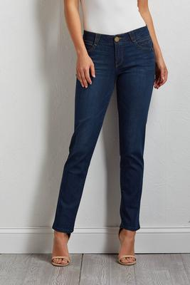 slimming straight leg jeans