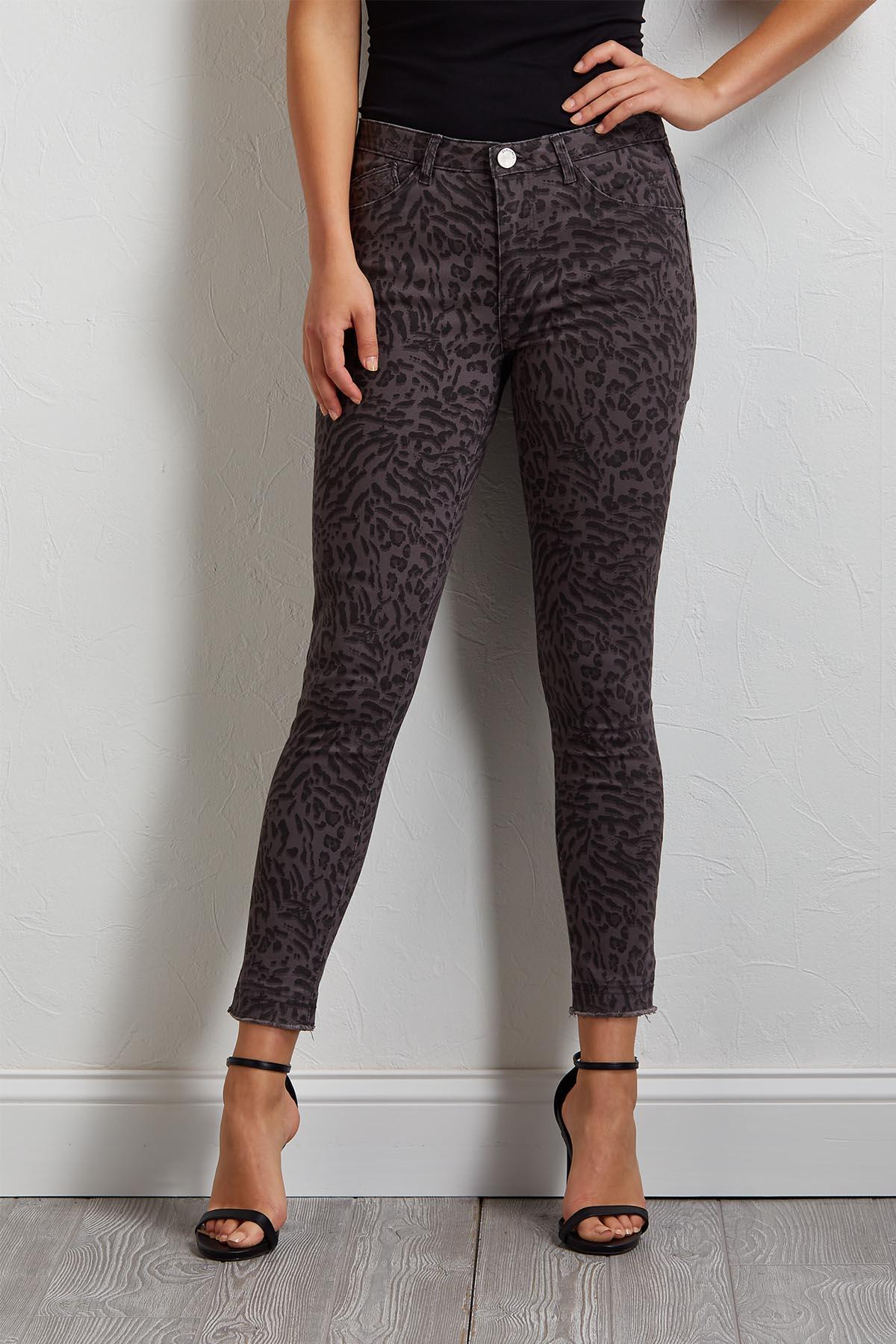Animal Print Ankle Pants
