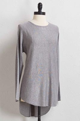 high-low tunic sweater
