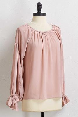 ruffled sleeve poet top