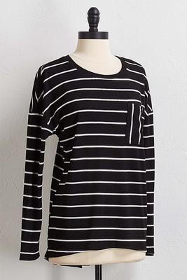 waffle stripe tunic