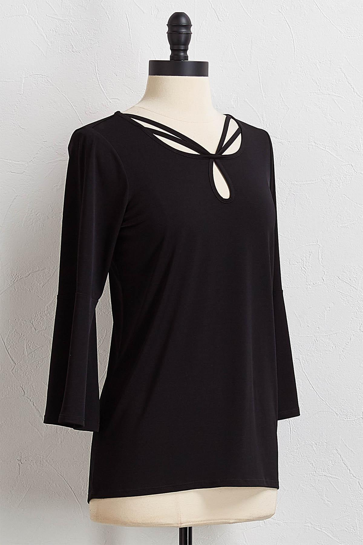 Strappy Flare Sleeve Top