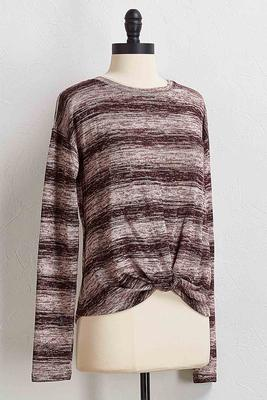 twisted stripe hacci top