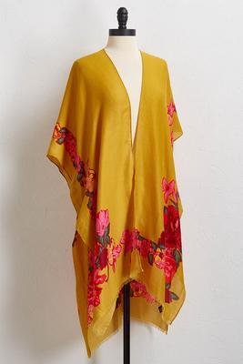fall floral kimono