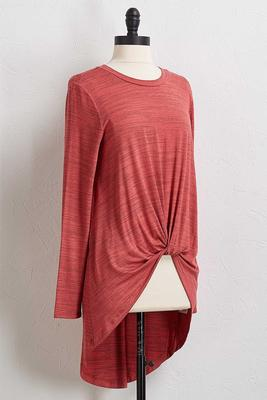 exaggerated high-low tunic