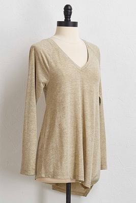 shimmery v-neck top