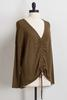 Olive Tie Ruched Center Top
