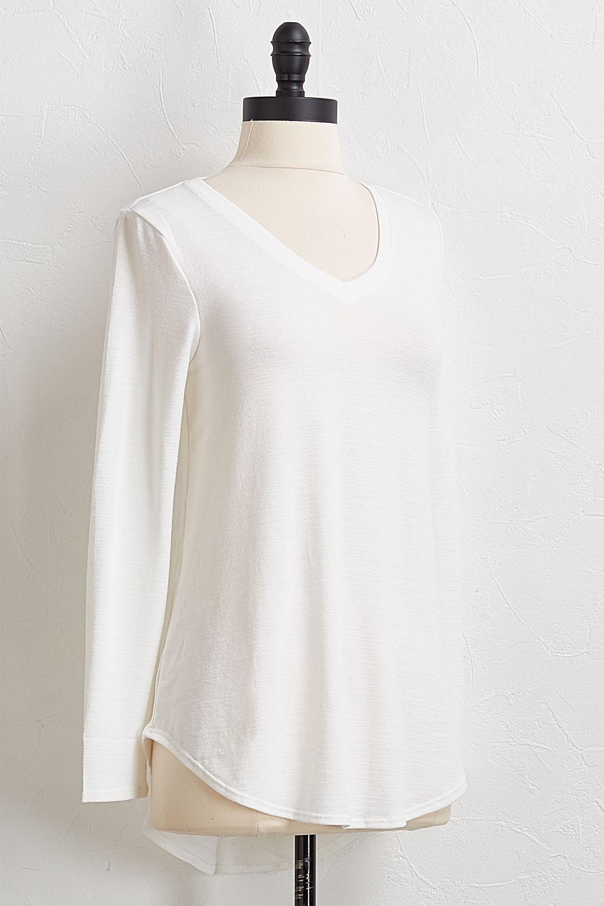 Ivory V- Neck Tunic
