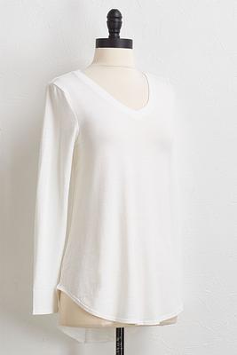 ivory v-neck tunic