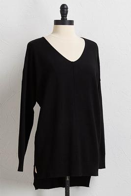 black step up tunic sweater