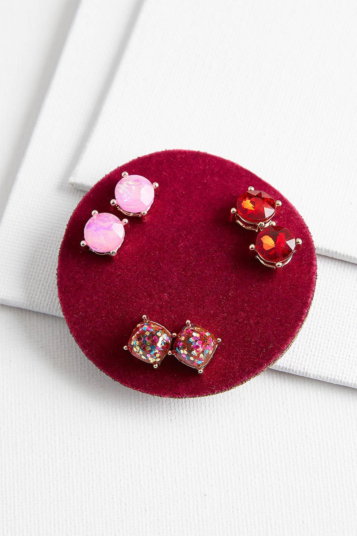 Sparkling Stud Earrings Set