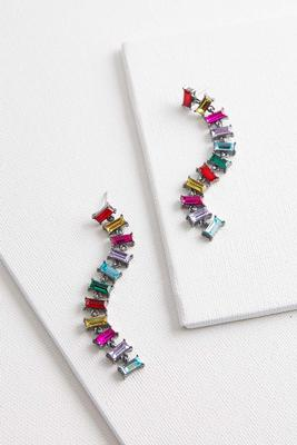 dangling jeweled earrings