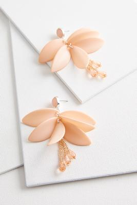 petal dangle earrings
