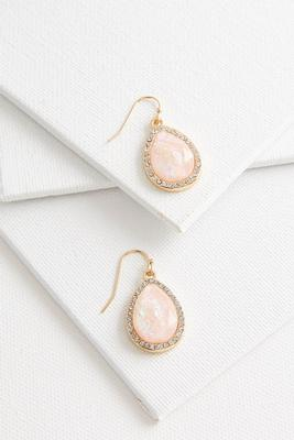 foiled tear shaped earrings