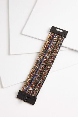 multi jeweled fabric bracelet