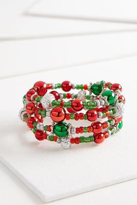 holiday coil bracelet