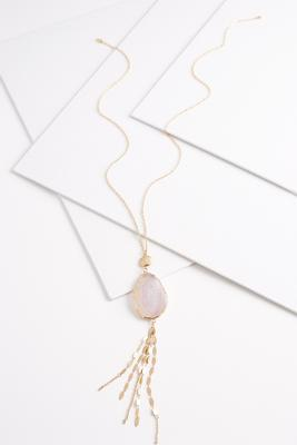 semi-precious mix chain necklace