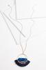 Tasseled Circle Pendant Necklace