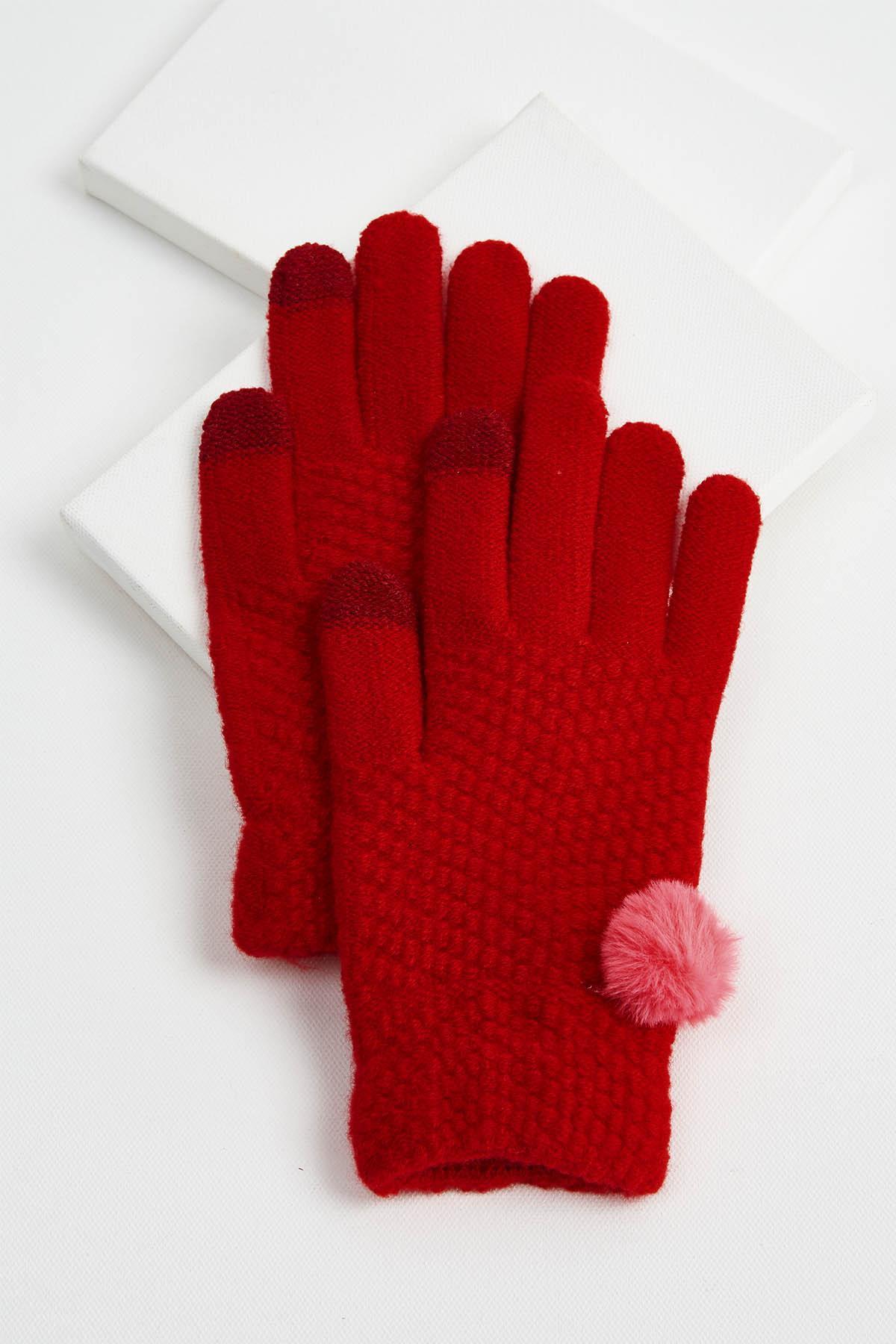 Pom- Pom Embellished Gloves