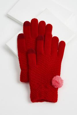 pom-pom embellished gloves