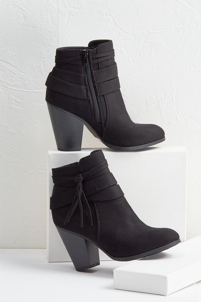 Side Tassel Booties