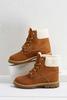 Shearling Combat Boots
