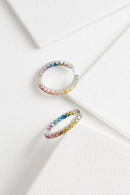 sparkling rainbow hoops