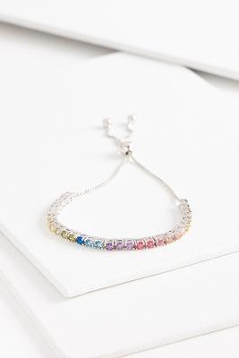 sparkling rainbow bracelet