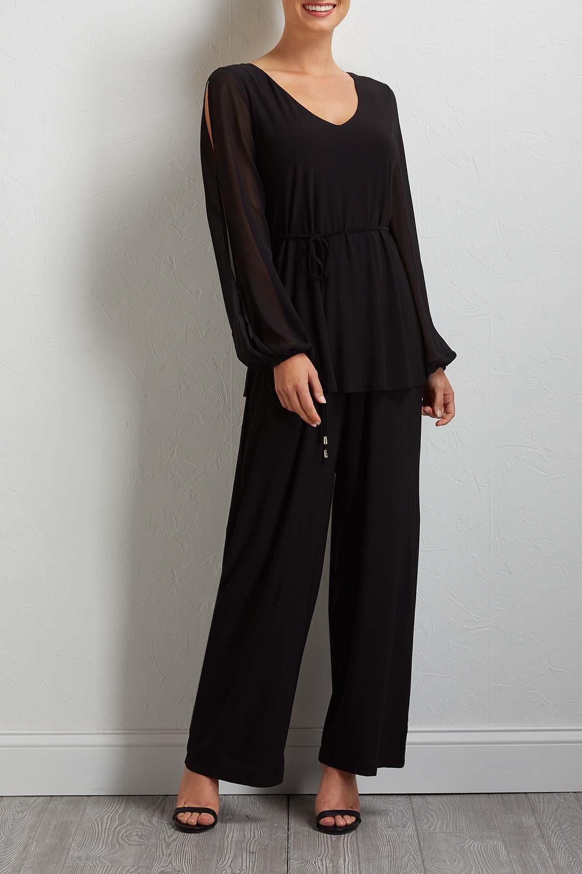 Split Sleeve Jumpsuit