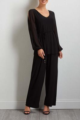 split sleeve jumpsuit