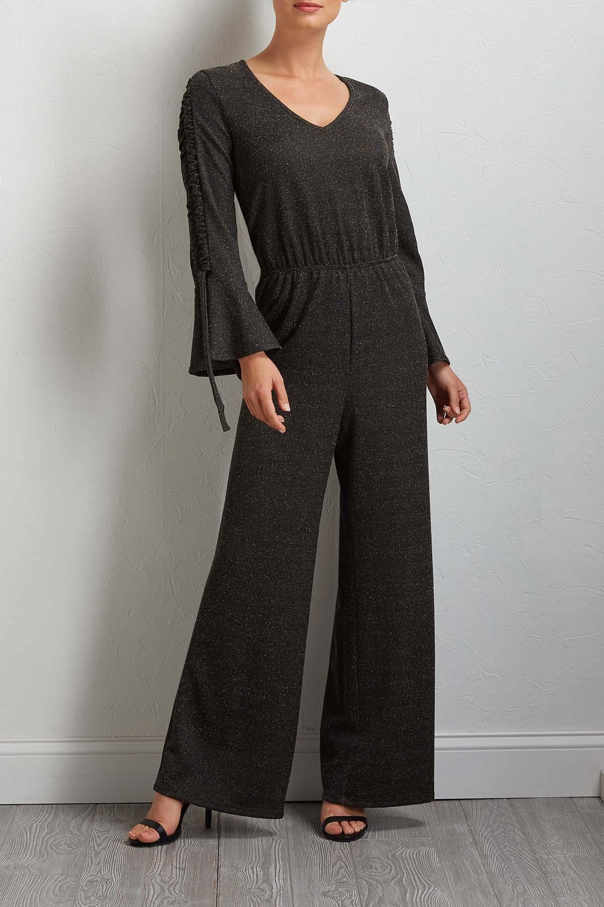 Hacci Bell Sleeve Jumpsuit