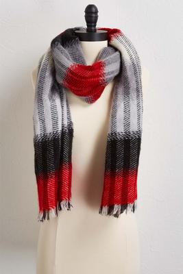 brushed twill plaid scarf