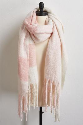 fringed plaid scarf