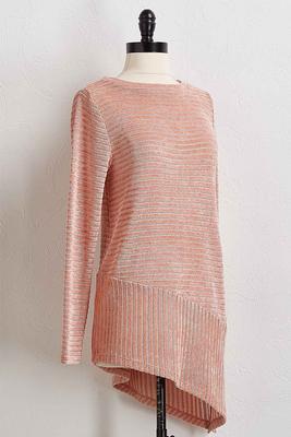 chenille asymmetrical tunic