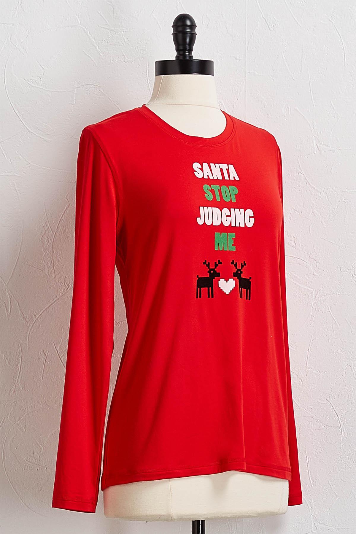 Santa Stop Judging Me Tee