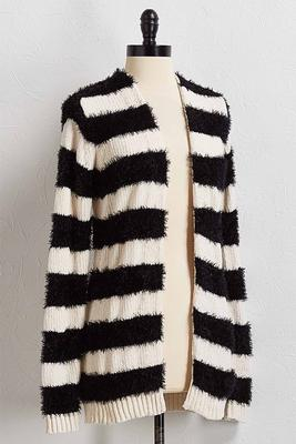striped cardigan sweater